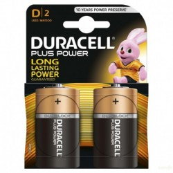 PILA ALCALINA LR20 1,5V D POWER PLUS DURACELL
