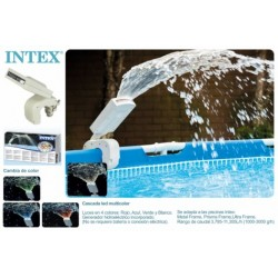 FUENTE PISCINA INTEX CON LUZ LED 28089